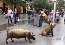 Skulpturen in der Fußgängerzone