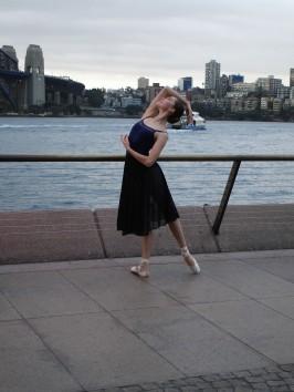 vor dem Auftritt noch ein Foto vor der Harbor Bridge