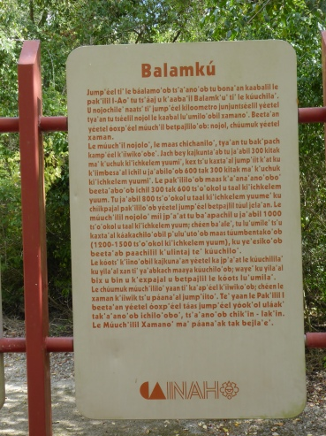Beschreibung in Maya-Sprache