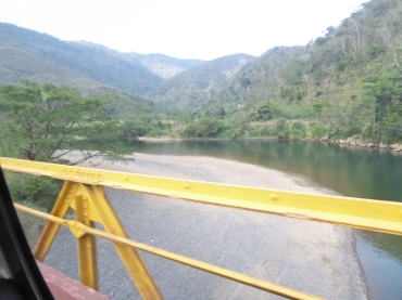 Brücke über den Cahabon