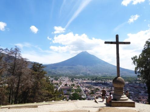 Blick auf den Vulkan Agua