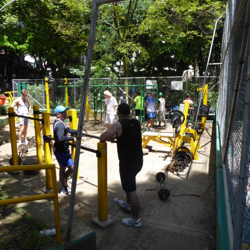 Fitnessgeräte im Park