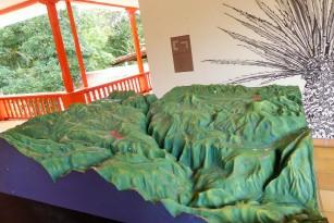 Modell der Landschaft mit Rio Magdalena